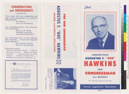 Calisphere Election Brochure For Assemblyman Augustus F Gus Hawkins