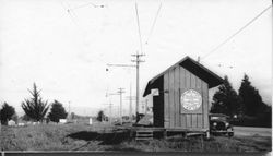 Alten P&SR railroad stop south of Sebastopol, about 1930s