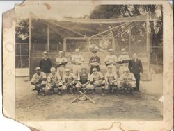 Analy Union High School baseball team of 1920-21 on baseball field