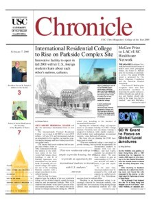 USC chronicle, vol. 19, no. 19 (2000 Feb. 7)