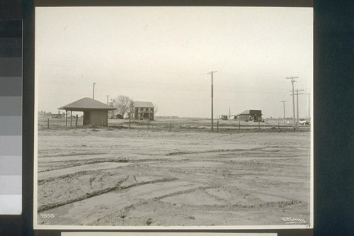 No. 17. Station, store and old ranch house on Delhi townsite when purchased by State