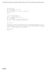 [Email from Mark Rolfe to Tom Keevil regarding Cyprus importer & distributor]