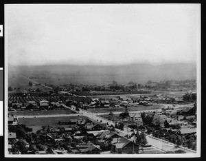 Panoramic view of Hollywood looking west from the head of Orange Street, ca.1910