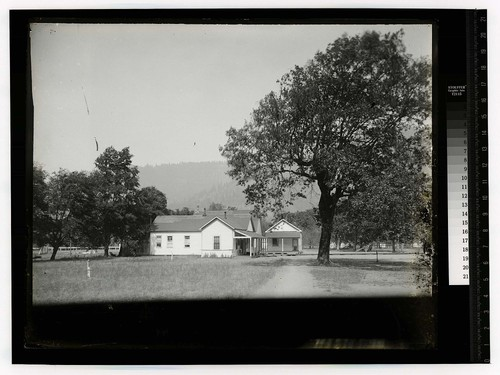 [Small buildings on the Hoopa Valley Reservation]