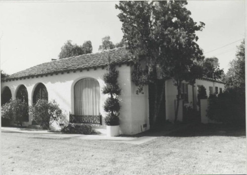Van Hunnick Dairy home rear view, 9121 Valley View Street (built ca. 1925), Cypress, 1989