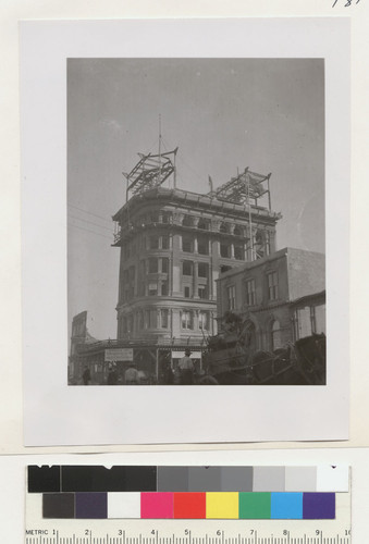 [Mutual Life Insurance Co. of New York building during reconstruction.]