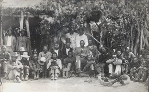 Khama III and his headmen, Botswana, Africa, 1882
