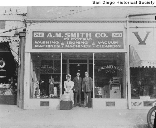 A. M. Smith Company electric appliance storefront