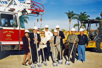 Groundbreaking for Fire Station No. 4