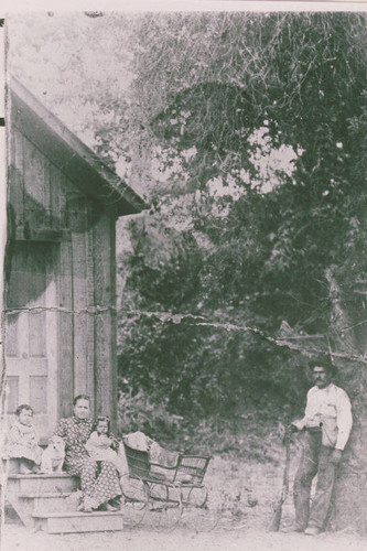 Portrait of the Marquez Family and part of their land grant in Las Pulgas Canyon, Calif