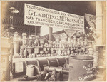 [Gladding, McBean & Co., view showing a portion of our exhibit at Mechanics' Fair, San Francisco, 1880] (2 views)