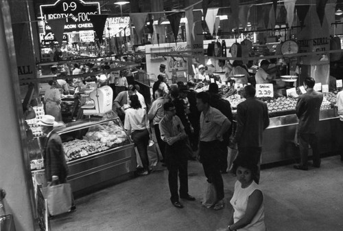 Busy aisles at Grand Central Market