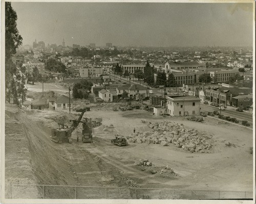 Shopping center construction, 1941