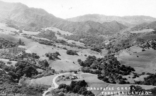 Garapatas Creek, Topanga Canyon, circa 1921