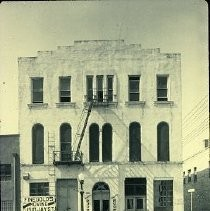 Old Sacramento. View of the Empire House and Ebner's Hotel on Second Street