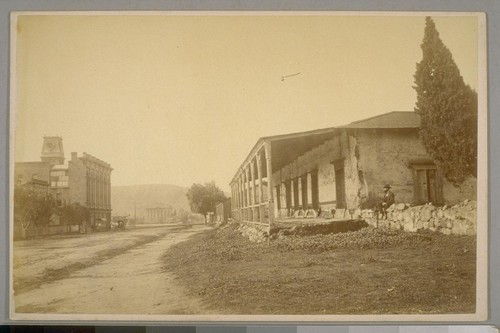 Old Adobe Building, Main St. opposite Clock Building, Santa Barbara, California, April 21st, 1884
