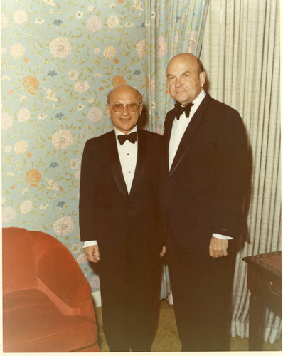 Calisphere: Milton Friedman and Chancellor Young