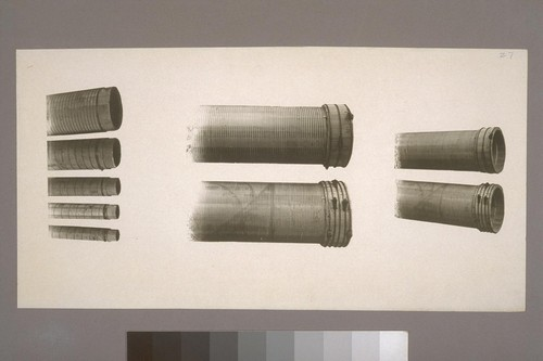 [Composite photograph of pipe ends.]