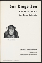 San Diego Zoo Official Guide Book with Hippo cover, 1956