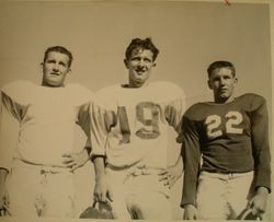 Analy High School Tigers football, 1953--Three unidentified players