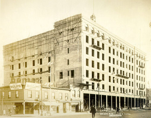 [Whitcomb Hotel construction]