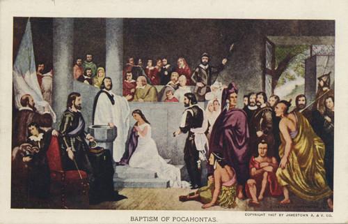 Calisphere Baptism Of Pocahontas