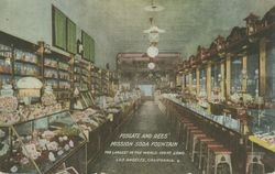 Fosgate and Rees' Mission Soda Fountain : the largest in the world, 100 ft. long, Los Angeles, California
