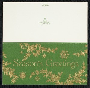 Christmas card from Eileen Chang to C.T. Hsia, ca. 1973