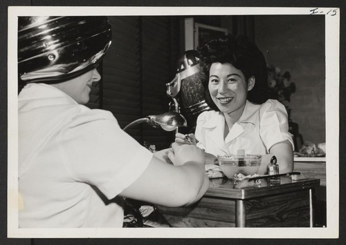 Miss Miye Tachihara, a beautician, has relocated from the Gila River Relocation Center to Philadelphia. Miss Tachihara formerly lived in