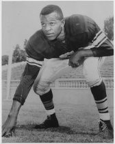 Chuck Alexander in football uniform, 1958