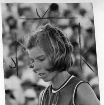 Kathy Hammond of Mira Loma HS and American River College. She went on to win two medals in the 1972 Olympic Games in Munich