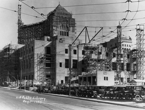 LAPL Central Library construction, view 61