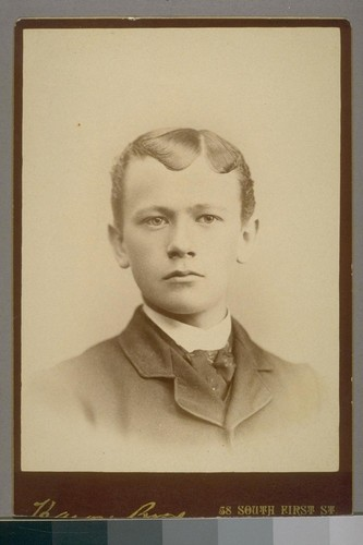 [Portrait of Clement Calhoun Young as a young boy.]