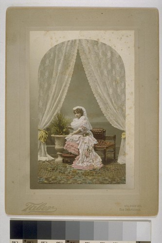 [Portrait of Louise Taber as child. Photograph by Isaiah West Taber. Hand-colored.]