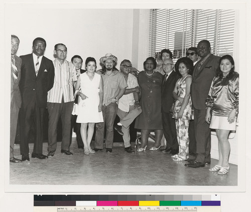 Augustus F. Hawkins with members of the Pico-Union Neighborhood Council