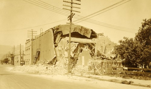 Santa Barbara 1925 Earthquake Damage - Potter Theater
