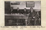 [Senators Welch, Wolfe, and Hare, and Attorney General Webb seated at a table]