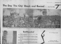 The day The City Shook and Burned...April 18, 1906""