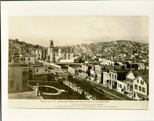 View of S. F. from the residence of Chas. Crocker Esq.