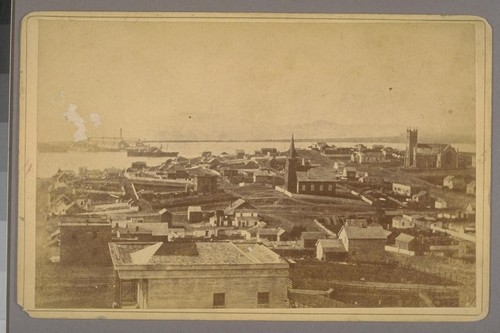 Navy yard, Mare Id. [i.e. Mare Island], Cal. Opp. Vallejo. 1880. [Photograph by James G. Smith.]
