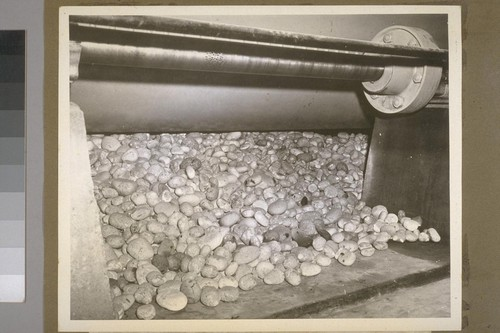 These stones, imported from Norway, are used as a primary part of the milling process. Search is now being made in America for stones having similar qualities of hardness