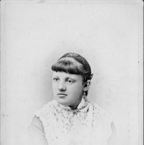 Portrait of Emma Dailey nee Gould and Klees (maiden name) born in Sacramento, 1861