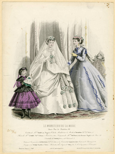 Calisphere: French wedding gown, Autumn 1866
