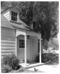 [Exterior front doorway of Thomas Rogers residence, North Hollywood.]