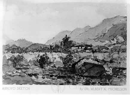 Arroyo sketch by A. A. Michelson
