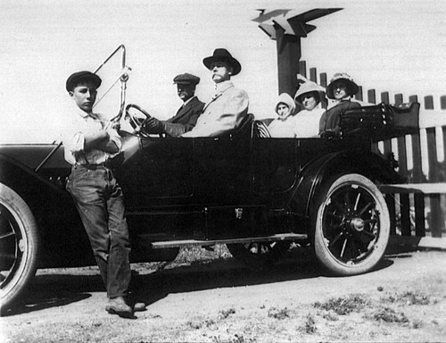 Early 1900s automobile ride, (c. 1910-1920), photograph