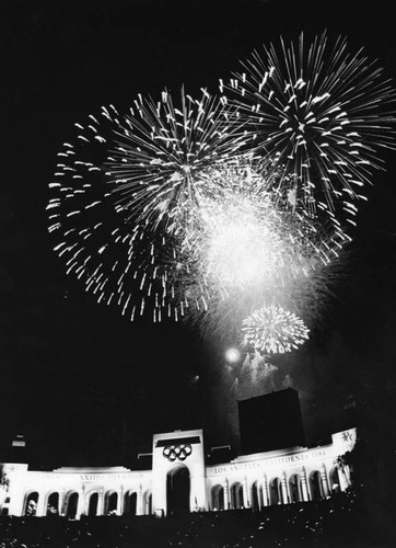 Fireworks above the Coliseum