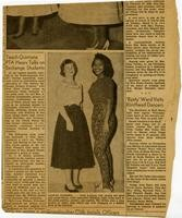 Newspaper about Williams and Lonborg class clothing project