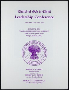 COGIC, leadership conference program, 1992