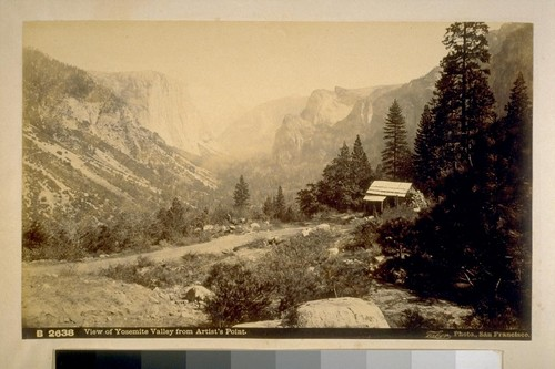 View of Yosemite Valley from Artist's Point
